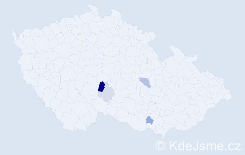 Příjmení: 'Lastomirský', počet výskytů 7 v celé ČR