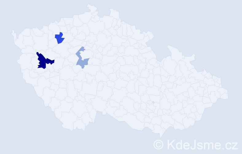 Příjmení: 'Ďurčovová', počet výskytů 5 v celé ČR