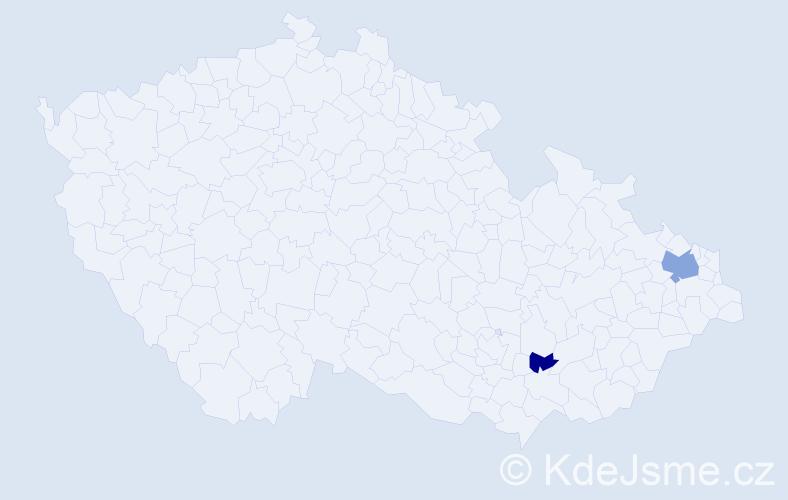 Příjmení: 'Dekýš', počet výskytů 4 v celé ČR