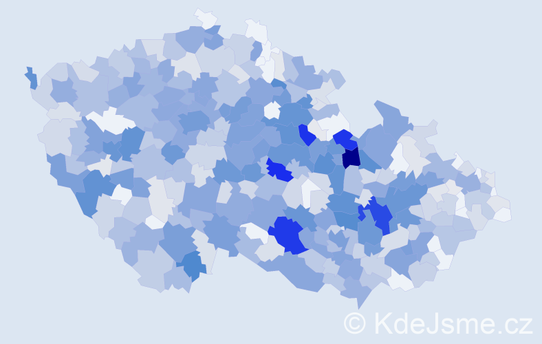 Příjmení: 'Krátký', počet výskytů 3057 v celé ČR