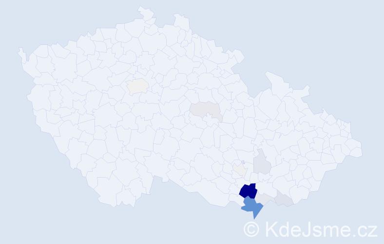 Příjmení: 'Herůfek', počet výskytů 40 v celé ČR