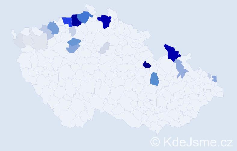 Příjmení: 'Badi', počet výskytů 191 v celé ČR