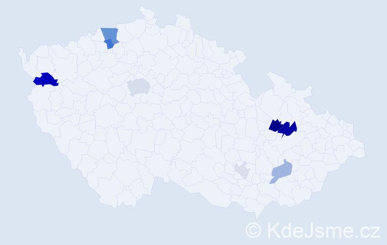 Příjmení: 'Draxl', počet výskytů 15 v celé ČR