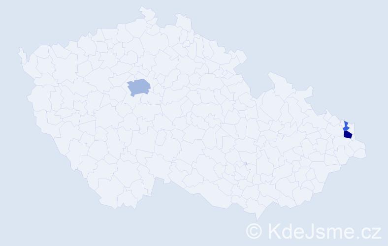 Příjmení: 'Hlavka', počet výskytů 8 v celé ČR