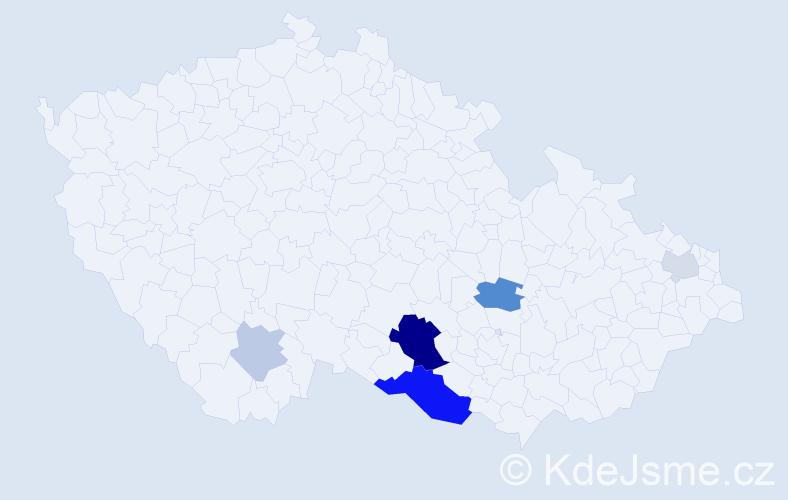 Příjmení: 'Erat', počet výskytů 15 v celé ČR