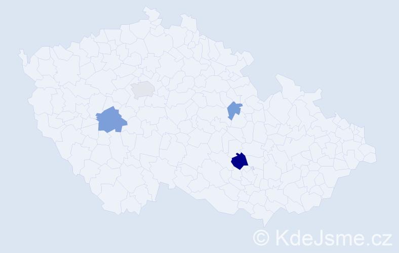 Příjmení: 'Costa', počet výskytů 8 v celé ČR