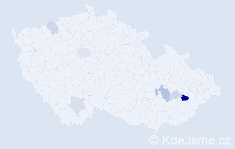 Příjmení: 'Khürová', počet výskytů 12 v celé ČR