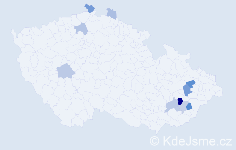 Příjmení: 'Dědičík', počet výskytů 26 v celé ČR