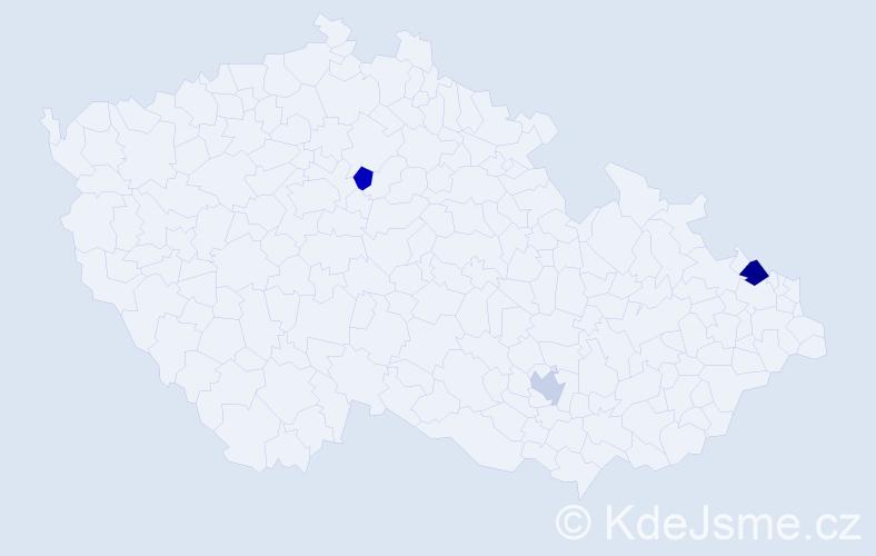 Příjmení: 'Harcek', počet výskytů 4 v celé ČR