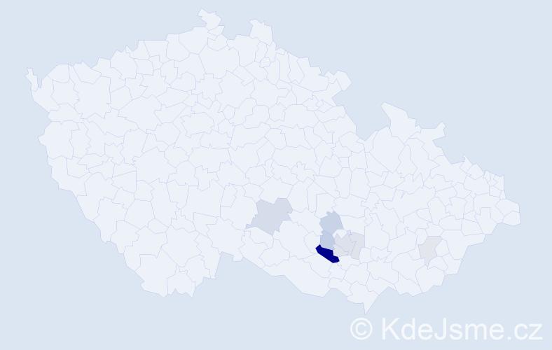 Příjmení: 'Eibelová', počet výskytů 20 v celé ČR