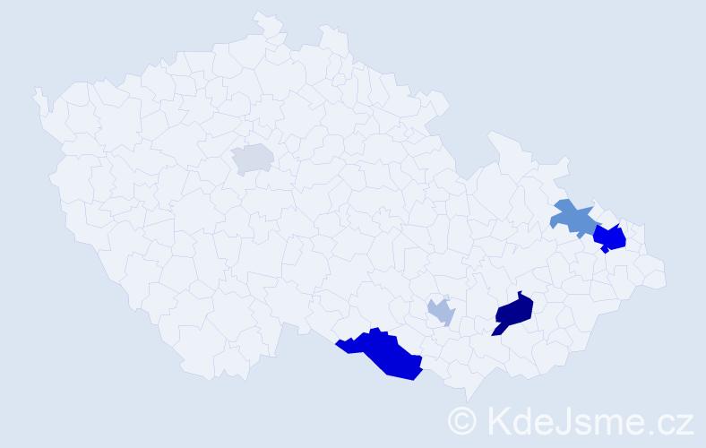 Příjmení: 'Emrich', počet výskytů 12 v celé ČR