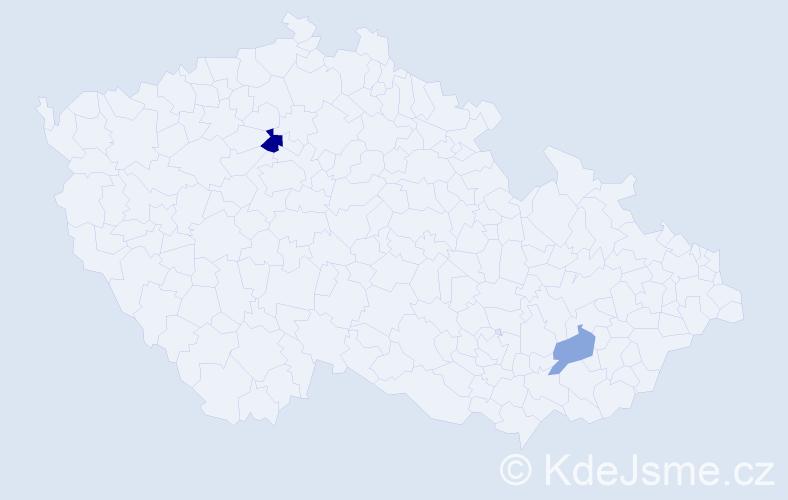Příjmení: 'Bolčák', počet výskytů 3 v celé ČR