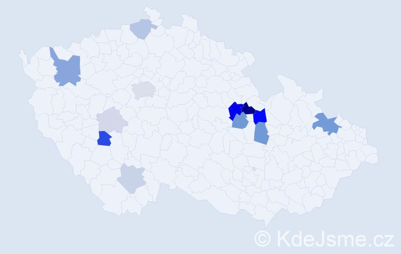 Příjmení: 'Krummer', počet výskytů 44 v celé ČR