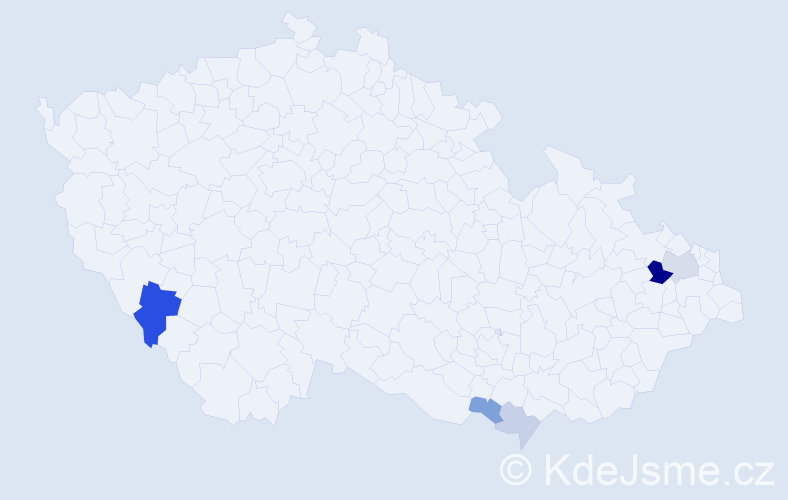 Příjmení: 'Fejerčák', počet výskytů 12 v celé ČR
