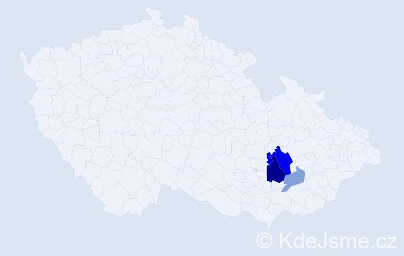 Příjmení: 'Gabrišák', počet výskytů 8 v celé ČR