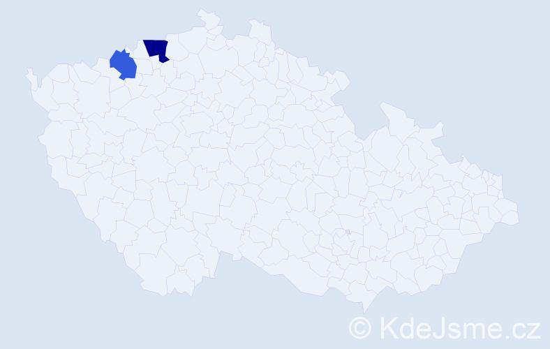 Příjmení: 'Illingová', počet výskytů 3 v celé ČR