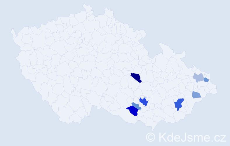Příjmení: 'Ireinová', počet výskytů 32 v celé ČR