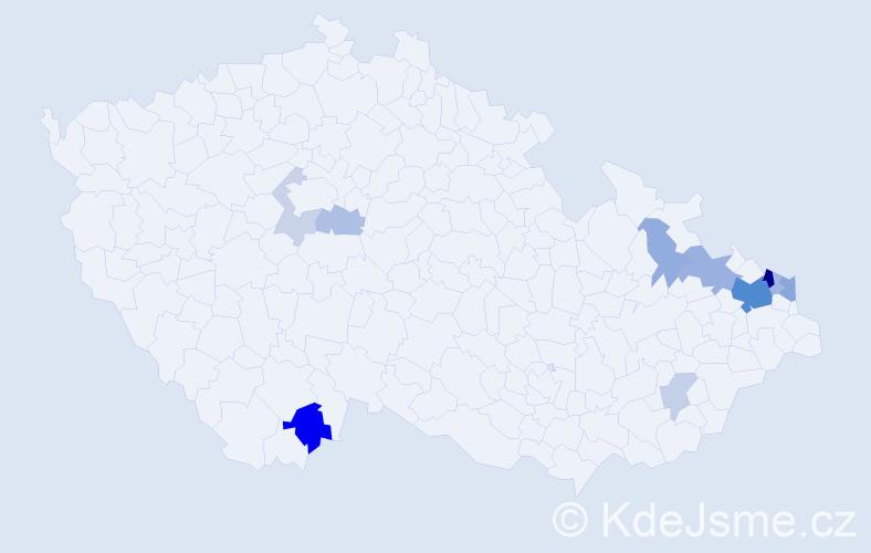 Příjmení: 'Golombková', počet výskytů 28 v celé ČR