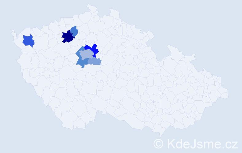 Příjmení: 'Folauf', počet výskytů 22 v celé ČR