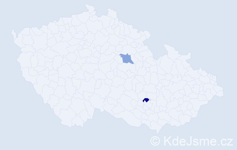 Příjmení: 'Guĺkáš', počet výskytů 2 v celé ČR