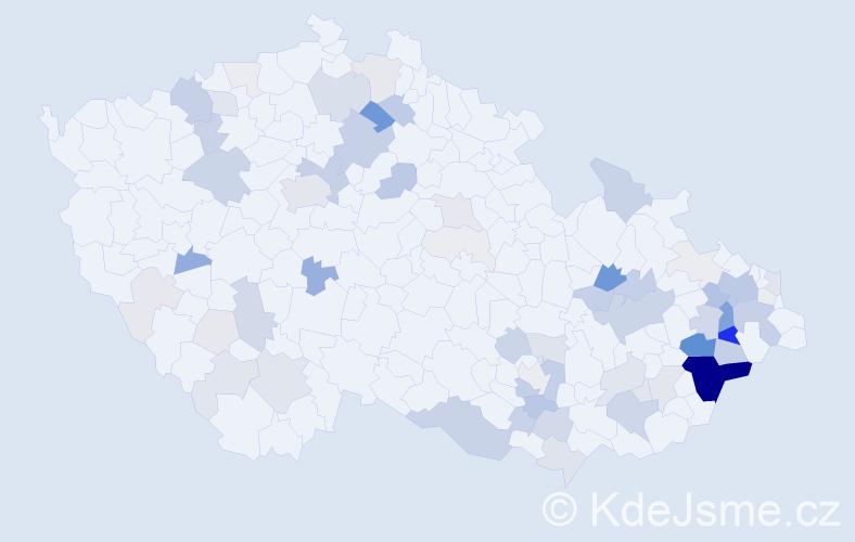 Příjmení: 'Knebl', počet výskytů 272 v celé ČR