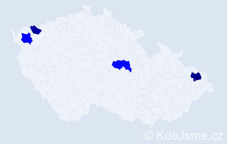 Příjmení: 'Laslop', počet výskytů 12 v celé ČR