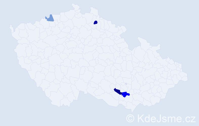 Příjmení: 'Grajzová', počet výskytů 6 v celé ČR