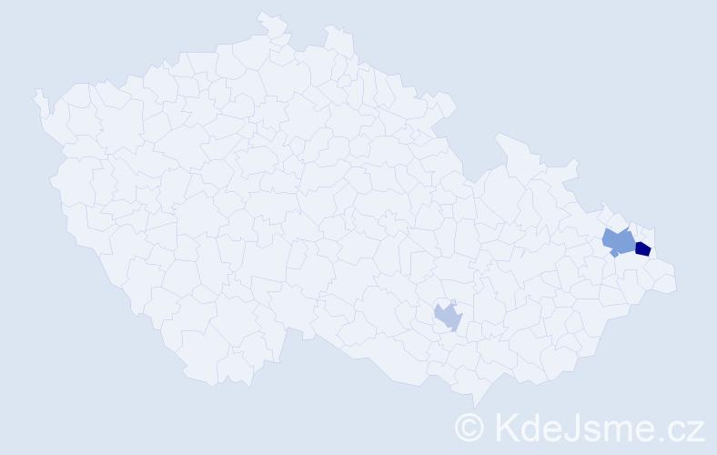 Příjmení: 'Čorná', počet výskytů 6 v celé ČR