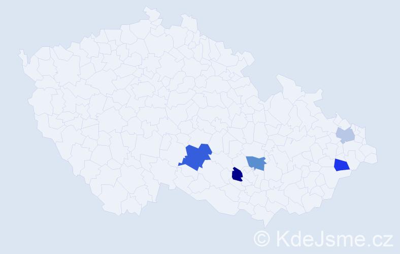 Příjmení: 'Achcenit', počet výskytů 6 v celé ČR