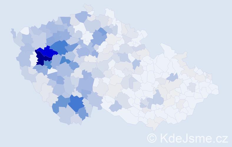 Příjmení: 'Fenclová', počet výskytů 1151 v celé ČR