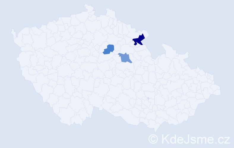 Příjmení: 'Bohušková', počet výskytů 7 v celé ČR