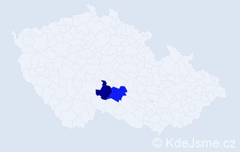 Příjmení: 'Kiko', počet výskytů 7 v celé ČR
