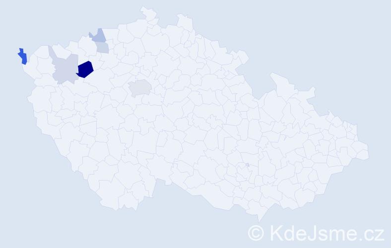 Příjmení: 'Khel', počet výskytů 12 v celé ČR