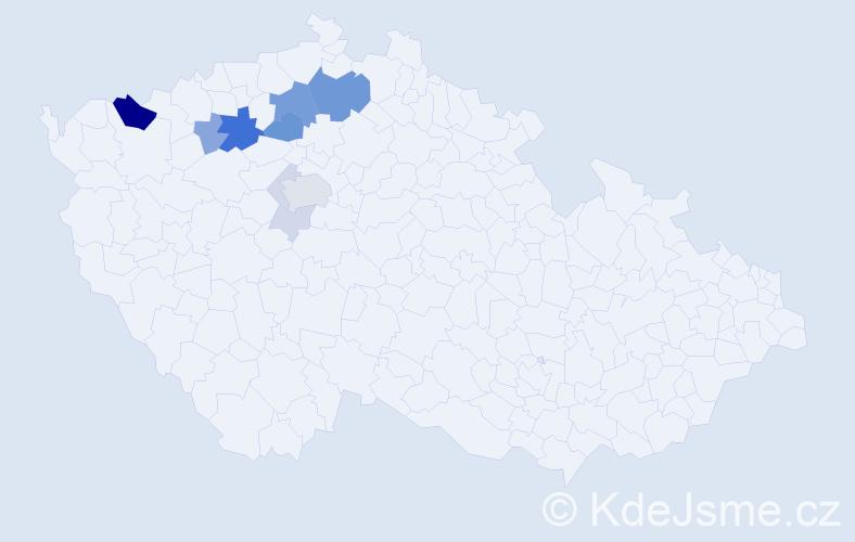 Příjmení: 'Ikráthová', počet výskytů 24 v celé ČR