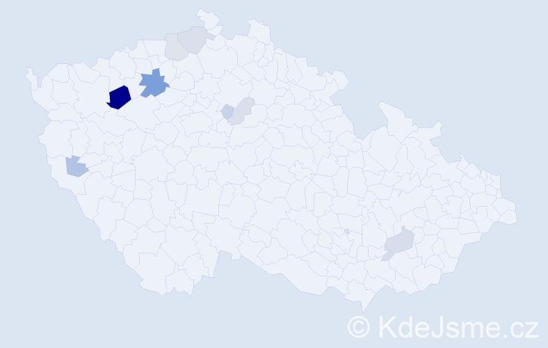 Příjmení: 'Imríšek', počet výskytů 25 v celé ČR