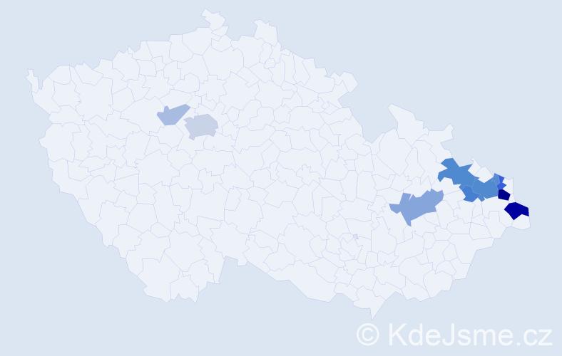 Příjmení: 'Jendrulek', počet výskytů 31 v celé ČR