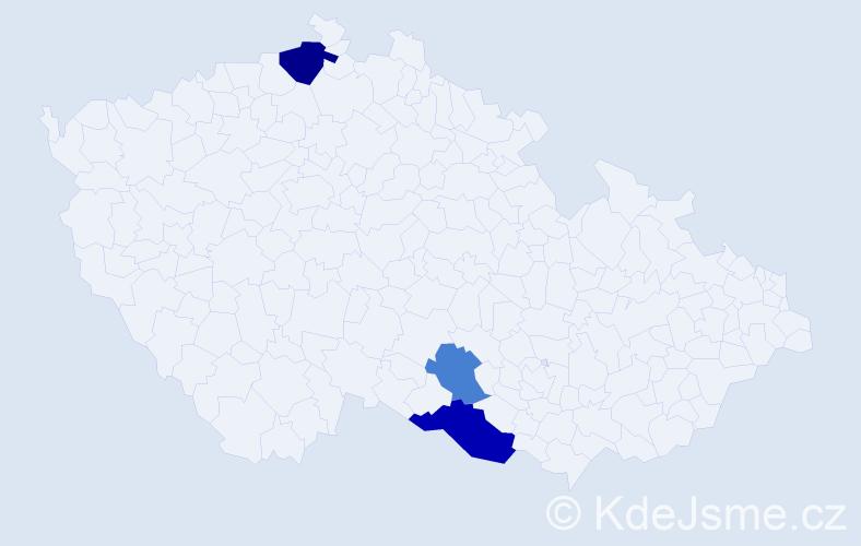 Příjmení: 'Bamboschek', počet výskytů 5 v celé ČR