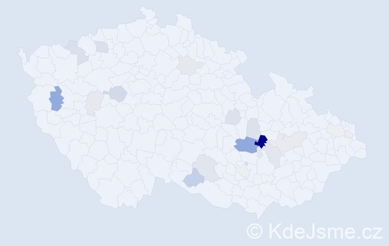 Příjmení: 'Eyerová', počet výskytů 46 v celé ČR