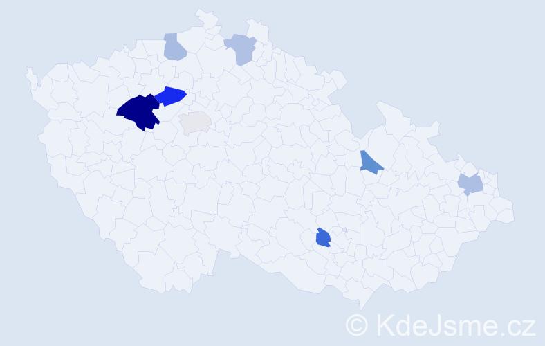 Příjmení: 'Fiam', počet výskytů 13 v celé ČR