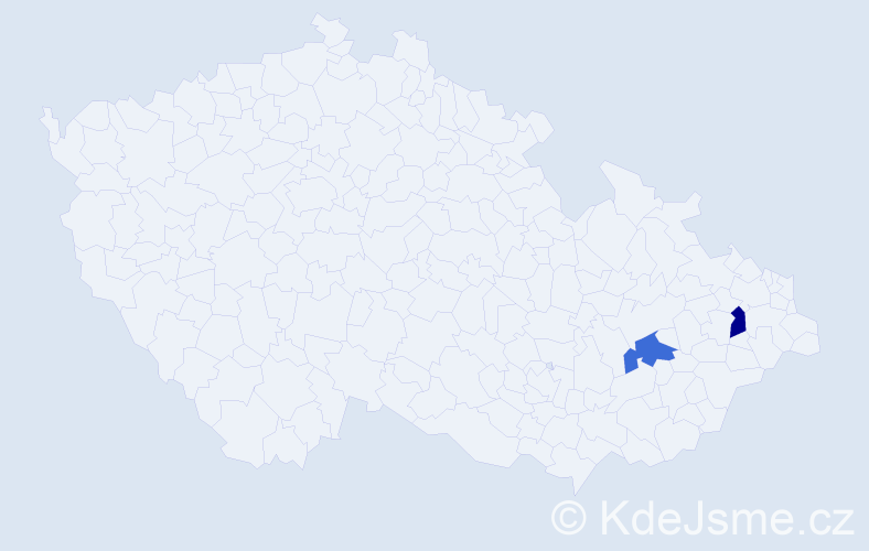 Příjmení: 'Acostová', počet výskytů 2 v celé ČR