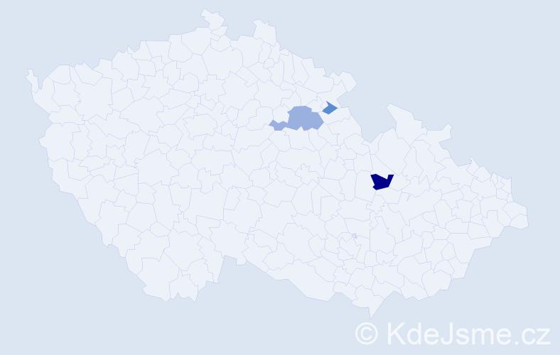 Příjmení: 'Kaniščev', počet výskytů 7 v celé ČR