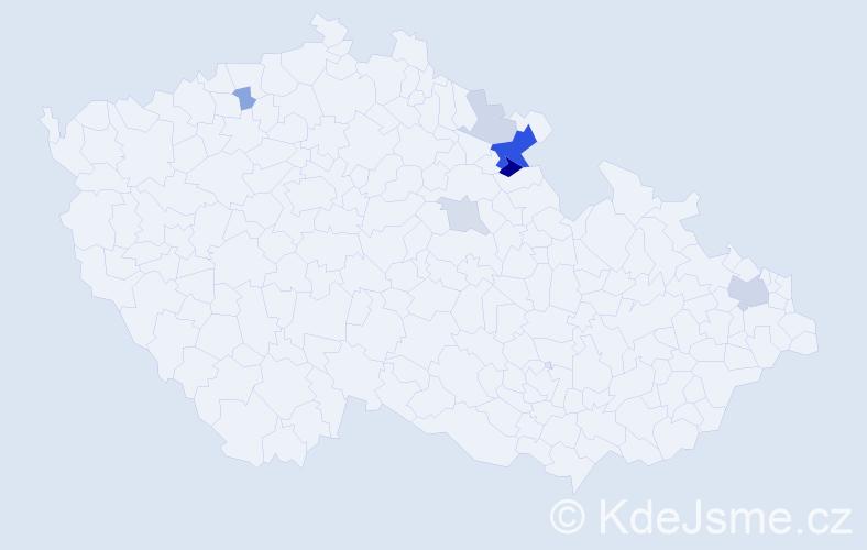 Příjmení: 'Hauschke', počet výskytů 17 v celé ČR