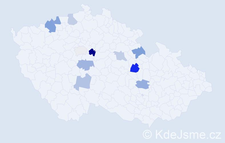 Příjmení: 'Bolomská', počet výskytů 14 v celé ČR