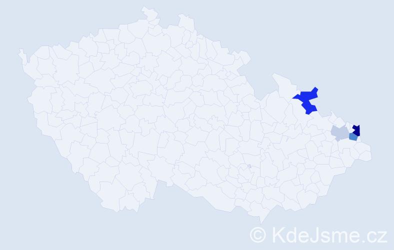 Příjmení: 'Czechowicz', počet výskytů 16 v celé ČR