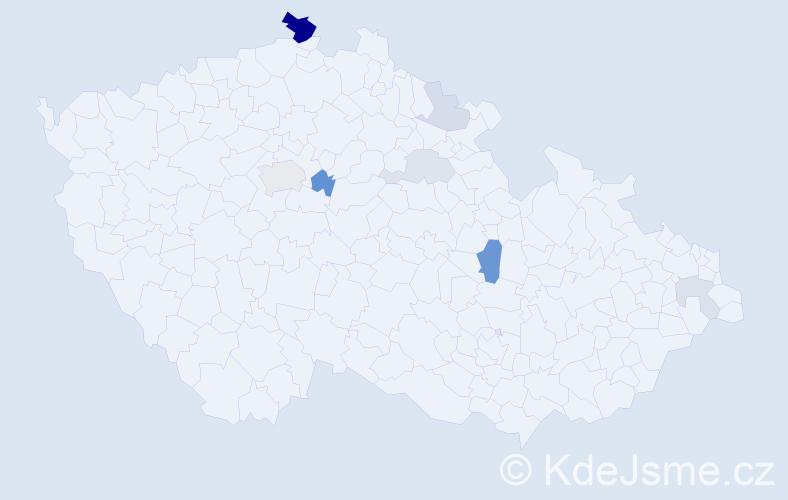 Příjmení: 'Čurgaliová', počet výskytů 20 v celé ČR