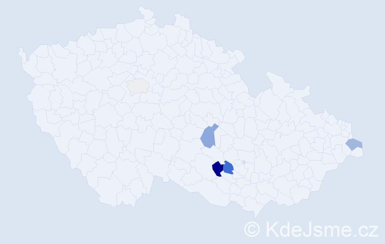 Příjmení: 'Lachowicz', počet výskytů 11 v celé ČR