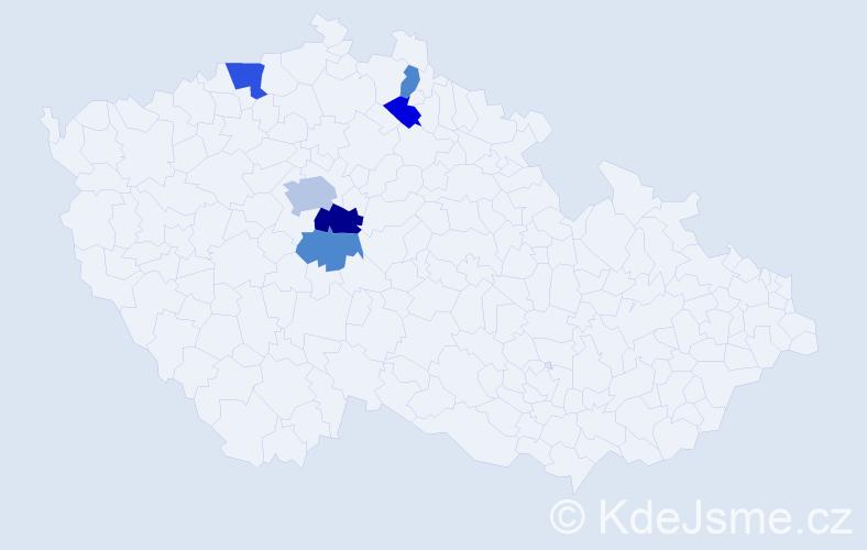 Příjmení: 'Kotyšan', počet výskytů 10 v celé ČR