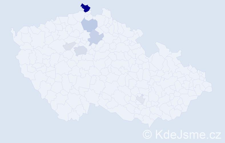 Příjmení: 'Kerbl', počet výskytů 25 v celé ČR