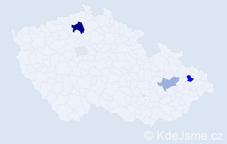 Příjmení: 'Janičíková', počet výskytů 6 v celé ČR