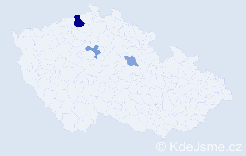 Příjmení: 'Beseová', počet výskytů 6 v celé ČR